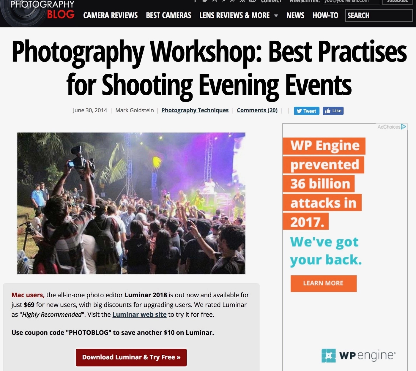 Photography blog eCommerce practice