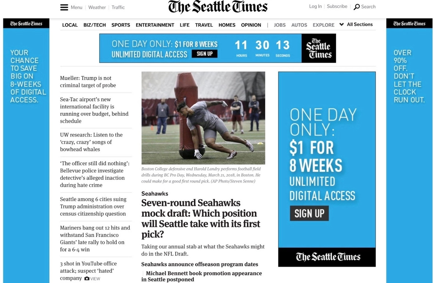 Seattle Times uses their own ads and media kit